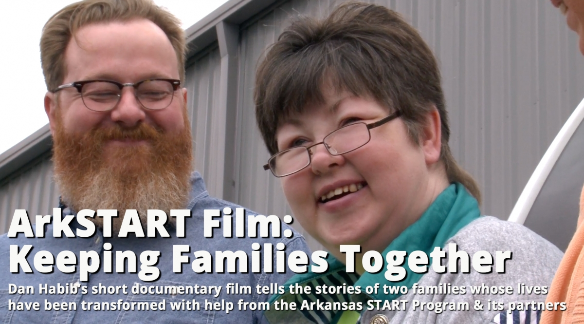 Image of Joe and Ashley smiling in the ArkSART Film documentary