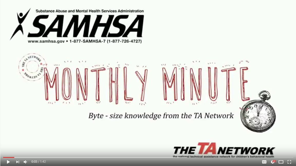 SAMHSA Monthly Minute