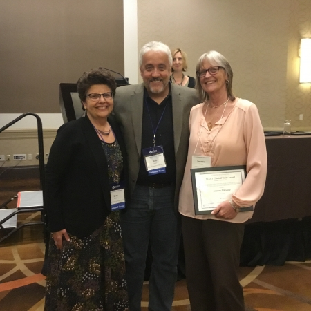Award Winner Joanne Ukraine pictured with Dr. Beasley and Bob Scholz